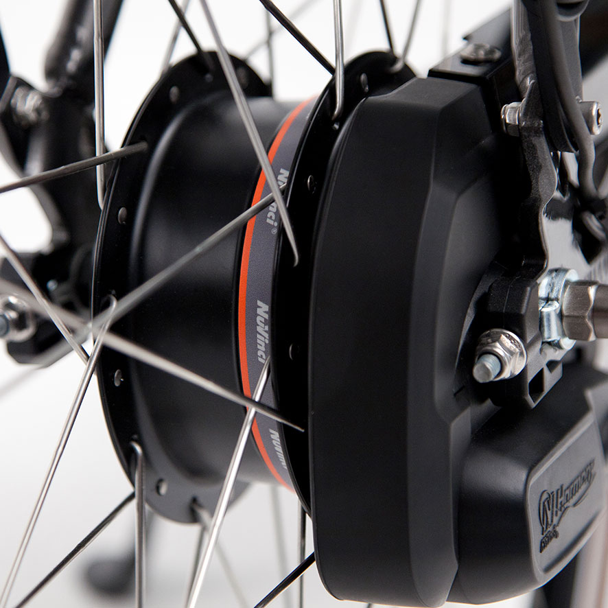 Manual gear shifting belongs to the past with the NuVinci Harmony automatic internal hub gear.