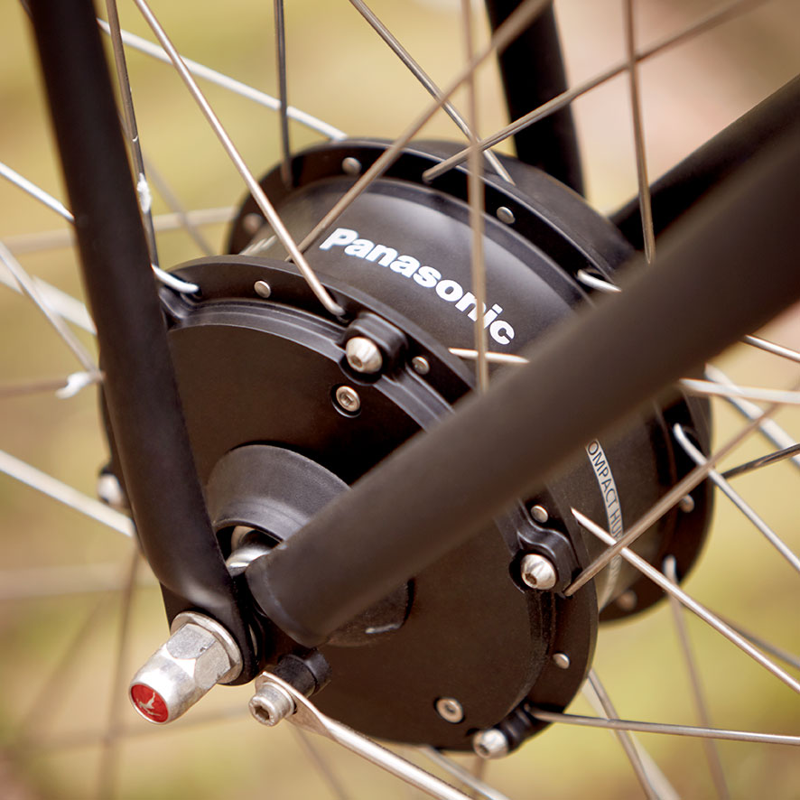 The combination of a Gazelle bike with a Panasonic front-wheel motor is a guarantee of robust quality and a plethora of options.