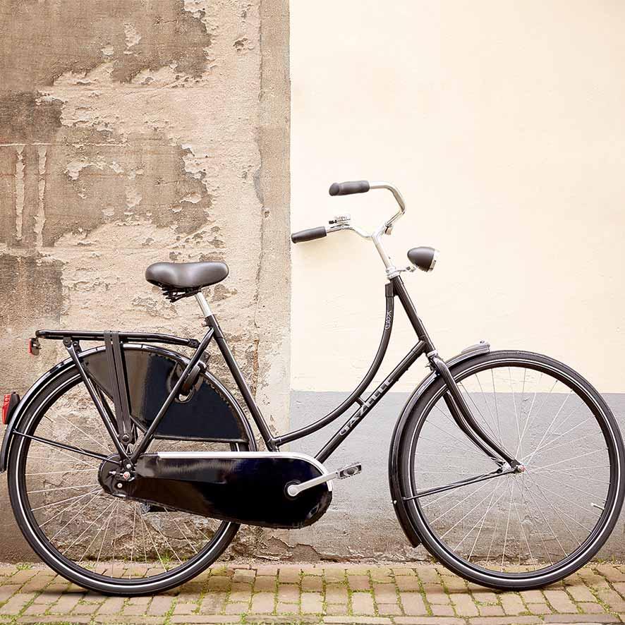Die Hollandräder von Gazelle haben alle Merkmale des klassischen echten Hollandrads. Sie sind solide, robust und haben einen stabilen Rahmen.