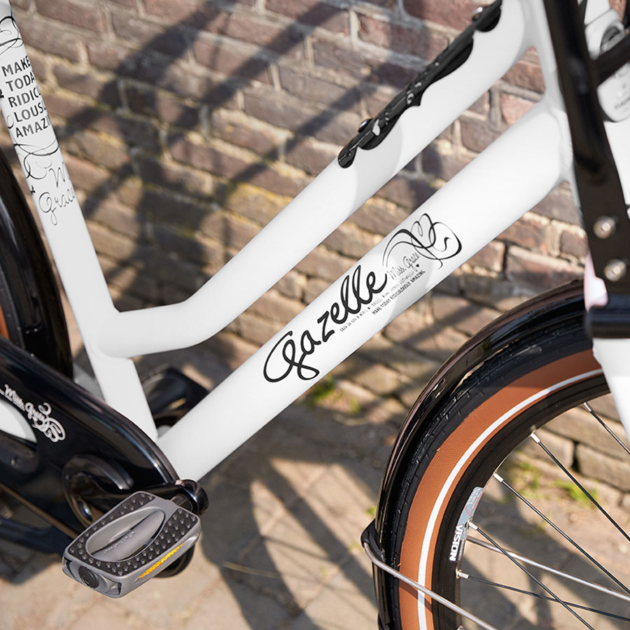The elegant Miss Grace is specially for women who like to be seen on an up-to-date delivery bike.