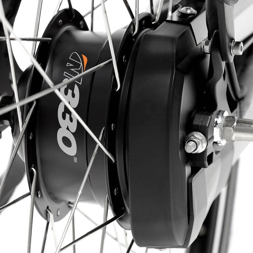 Grâce au moyeu édenté à vitesses intégrées NuVinci, vous changez très facilement de braquet tout en pédalant
