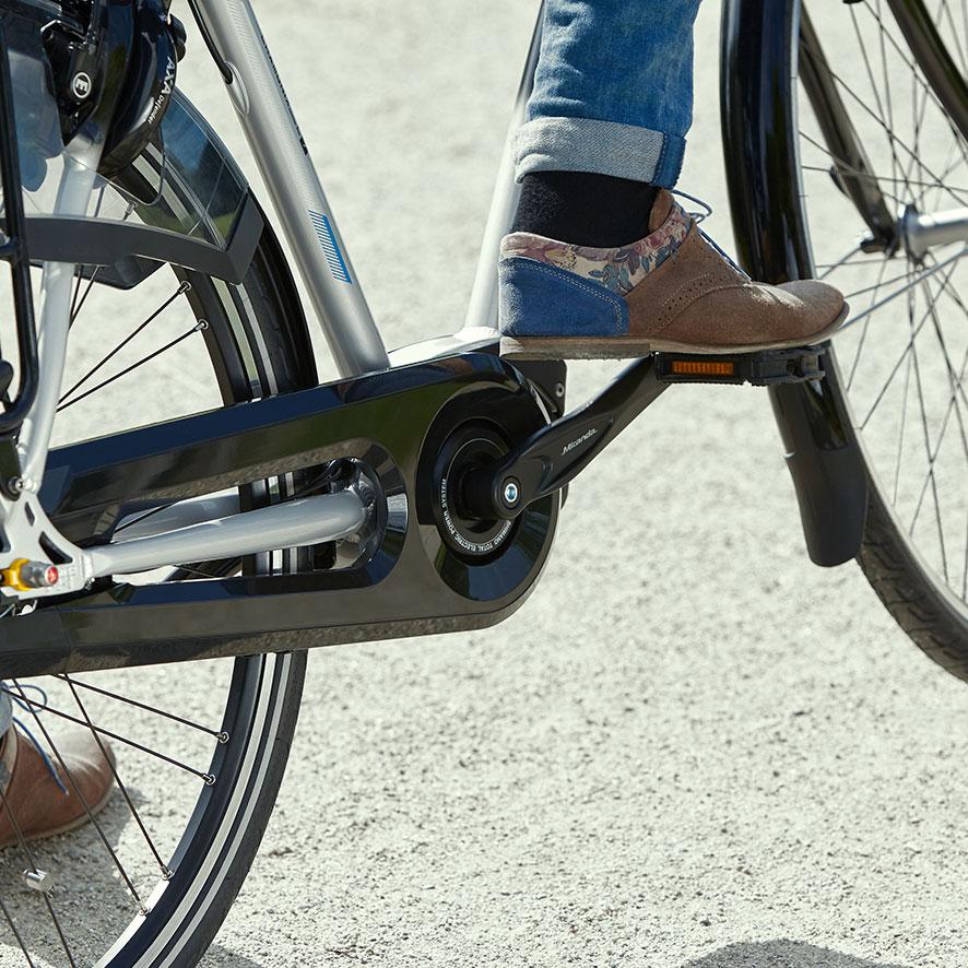 Denne lette og stærke Steps centermotor er både ideel til cykling i hverdagen og til lange ture.