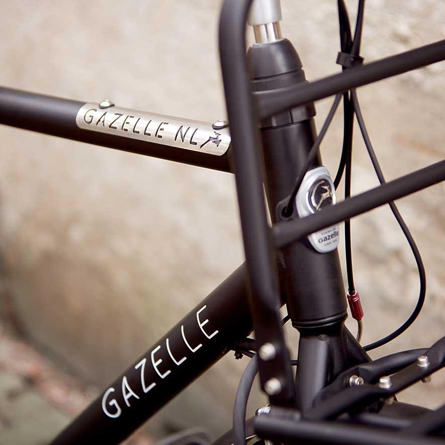 Équipé d'une double béquille et d'un système de verrouillage au guidon, c'est le vélo de transport le plus complet de la gamme Gazelle.