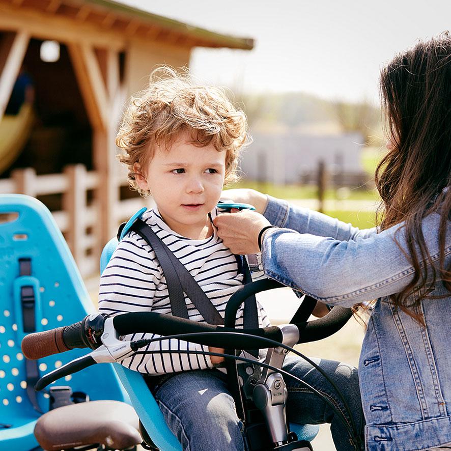 Vores mor/barn-cykler er bygget specielt til øget cykelkomfort.