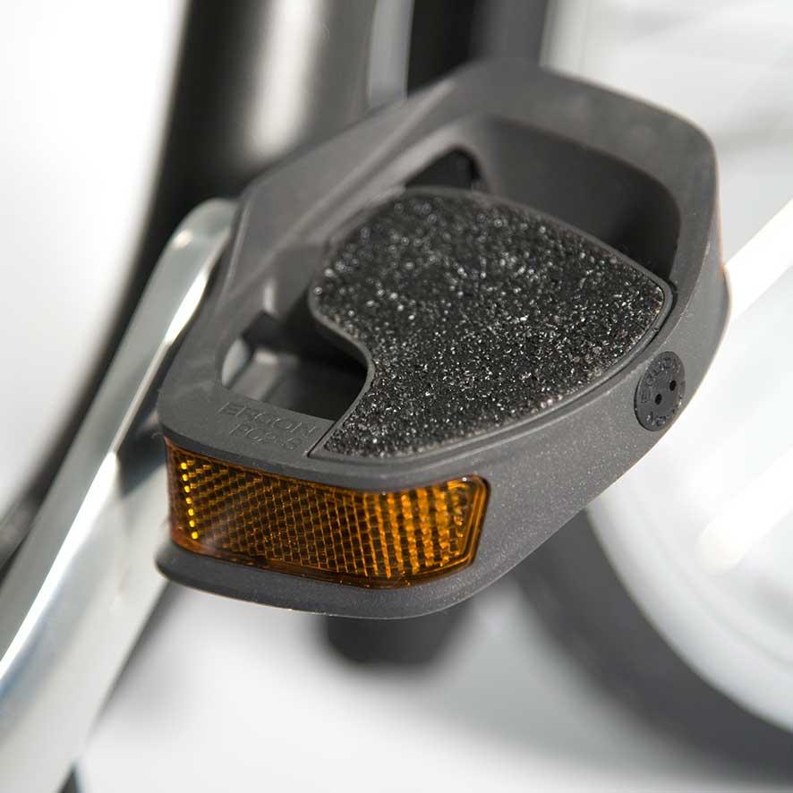 De trapkrachtsensor registreert hoeveel kracht je op de pedalen zet